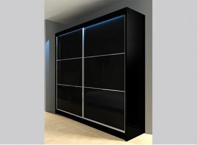 Шкаф купе с черным стеклом