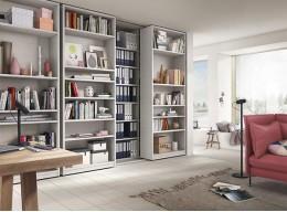 Раздвижные библиотеки шкафы