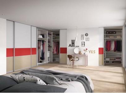 Встраиваемый угловой шкаф купе в спальню