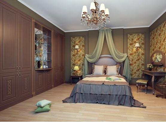 Встраиваемые шкафы в спальню