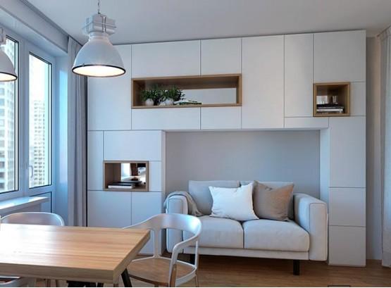 Шкаф со встроенным диваном