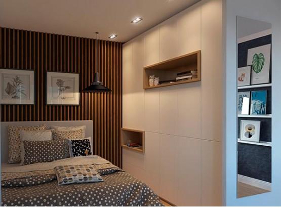 Встроенный шкаф под натяжной потолок