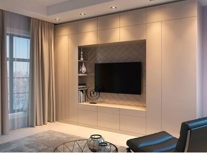 Стенка для телевизора со шкафом для одежды