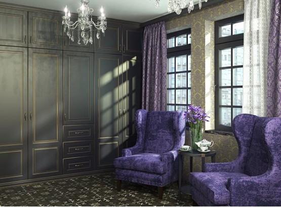 Шкаф для гостиной классика