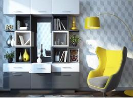 Шкаф в гостиную в современном стиле