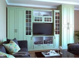 Стильные шкафы в гостиную