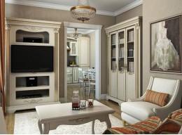 Мебель в гостиную с книжным шкафом