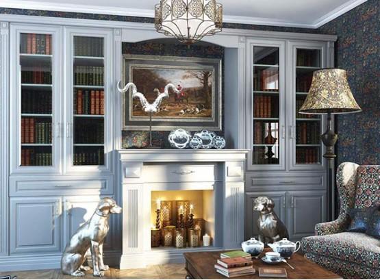 Книжный шкаф в классическом стиле