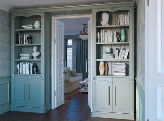 Книжный шкаф в прихожую