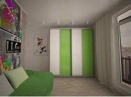 Встроенный шкаф купе в однокомнатную квартиру