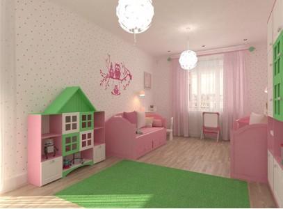 Шкаф в детскую комнату для девочки угловой