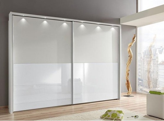 Двери для шкафа купе белые