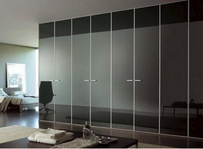 Распашные стеклянные двери для шкафа