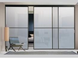 Дверь стеклянная межкомнатная матовая раздвижная