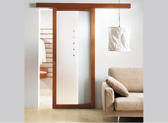 Одностворчатые раздвижные двери