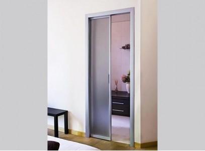 Раздвижные двери в стену в пенал