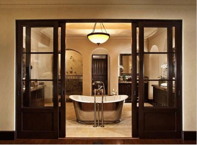 Раздвижная дверь в туалет
