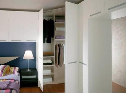 Встраиваемые угловые шкафы в спальню