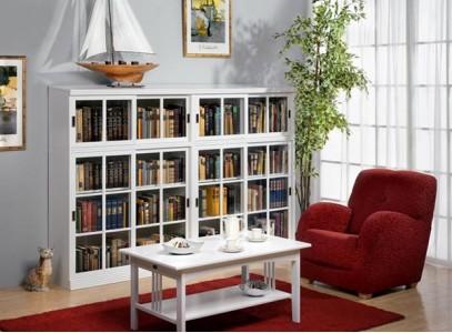 Шкаф для книг стеклянный
