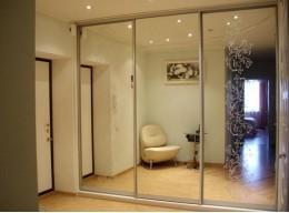 Шкаф купе зеркальный 3 двери