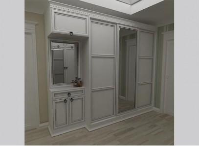 Шкаф купе в прихожей белого цвета