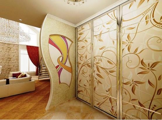 Красивые шкафы купе в гостиную