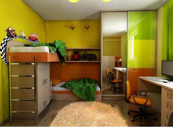 Шкаф купе в детскую для двоих детей